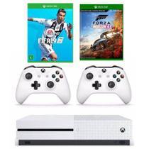 Combo Xbox One S 1TB + Forza Horizon 4 + FIFA 19 + Controle Extra - Microsoft