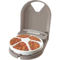 Comedouro Alimentador Eletrônico para cachorro e gato Eatwell Plus 5 Refeições Amicus -