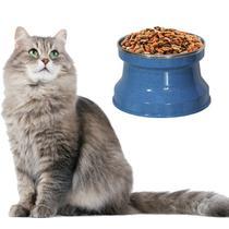 Comedouro Aluminio Medio Gatos, Cor: Azul Pigmentado - Gastrobel