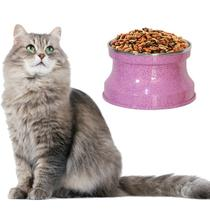 Comedouro Aluminio Medio Gatos, Cor: Rosa Pigmentado - Gastrobel