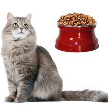 Comedouro Aluminio Medio Gatos, Cor: Vermelho Pigmentado - Gastrobel