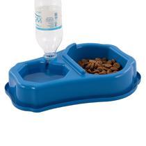 Comedouro Automático para Cães e Gatos Duplo Bebedouro Água Ração - Wp Connect
