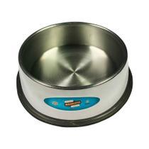 Comedouro Maskoto de Aluminio para Cães e Gatos Alumínio Polido - Tamanho M -
