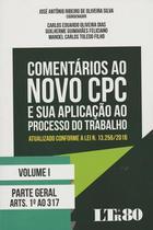 Comentarios ao Novo Cpc e Sua Aplicacao ao - Ltr