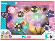 Comidinha de Brinquedo Creative Fun Pic-Nic - 24 Peças Multikids