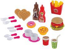 Comidinha de Brinquedo Food Delivery Lanchonete - 22 Peças Braskit