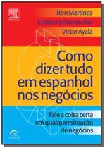 Como dizer tudo em espanhol nos negocios - Diversas