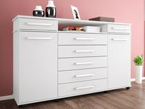 Comoda Com 7 Gavetas London Branco - Demobile