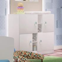 Cômoda de Bebê 4 Portas Móveis Percasa Branco -