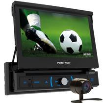 """COMP DVD Player Automotivo SP6730DTV 1 Din 7"""" Retrátil Espelhamento Android TV Digital BT USB MP3 + Câmera de Ré - Positron"""