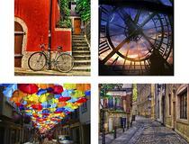 Compose 4 Quadros Decorativos em Canvas para Salas Quartos Urban Color II - Incasa Design
