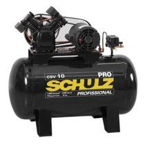 Compressor 10 Pés 100 Litros 140 Libras CSV-10/100 PRO SCHULZ -
