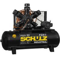 Compressor 15 HP 60 Pés 425 Litros 5 Pistões 175 Libras Trifásico MSWV60FORT/425LMTA SCHULZ -