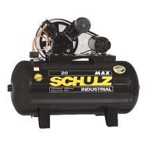 Compressor 20 Pés 5HP 300 Litros MAX Trifásico 2 Pistões 175 Libras SCHULZ -