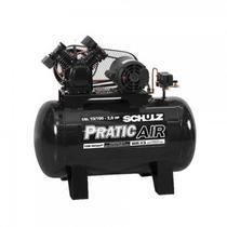 Compressor Ar  10BR100L CSV Pratic Air 2CV  Monofasico   Schulz -