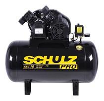 Compressor ar 10pcm  100lt bp mono csv 220v pro schulz -