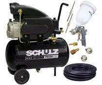 Compressor ar 8,5 pés 25l 120lbf pratic csi 8,5/25 schulz + kit pintura - Cds