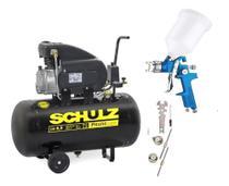 Compressor ar csi 8,5pés 50l 8,5/50 schulz + kit pintura - Cds