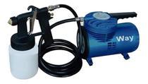 Compressor Ar Direto 1/4hp 190w 50 Psi + Kit Pistola Pintura - Importway
