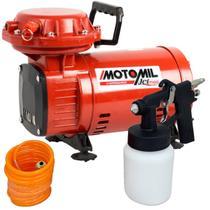 Compressor Ar Direto 1,3 HP Motocompressor Jetmil Bivolt com Kit MOTOMIL -
