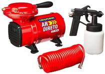 Compressor Ar Direto Red Bivolt + Kit De Pintura Chiaperini -