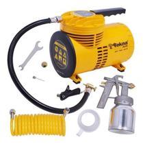 Compressor Ar Direto Tufão + Kit Bivolt 50psi Cd1251bk Tekna -