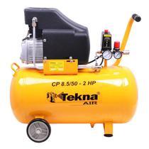 Compressor Ar Portátil 2,5 Hp 8,5 Pés 50 Litros Cp8550 220v Tekna -
