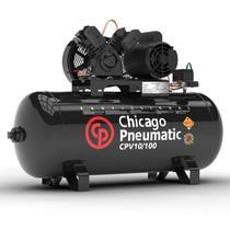 Compressor de Ar 10 Pés 100 Litros 2 CV 120 Libras Motor Mono CPV10/100 CHICACO PNEUMATIC - Chicago