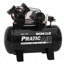 Compressor de ar 10 pés 100 litros 2 hp CSV10/100 - Pratic Air - Schulz -