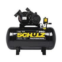 Compressor De Ar 10 Pés 100l 140lb 2hp Monofasico Schulz -