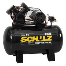 Compressor de ar 10 pés 100L 2 hp 140 lbs monofásico - Pro CSV10/100 - Schulz -
