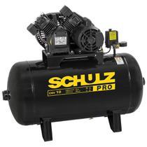 Compressor de Ar 10 Pés 100L 2HP 140PSI Monofásico - SCHULZ-PROCSV10/100 127v -
