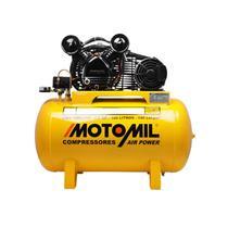 Compressor de Ar 10 Pés 100Lts 140Lbs Monofásico CMV10-PL/100 - Motomil