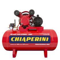 Compressor de Ar 10 Pés 110 Litros 2,0 HP 10/110 RED Mono 110/220V CHIAPERINI -