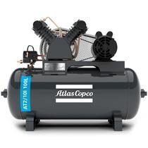 Compressor de Ar 10 Pés 2,0 HP 100 Litros 2 Pistões 140 Libras Monofásico ATLAS COPCO -