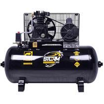 Compressor De Ar 10 Pés 2hp 100 L Monofásico - Storm-300 - Pressure