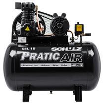 Compressor de ar 15 pés 3 hp 130 litros monofásico - CSL15/130 (220V) - Schulz