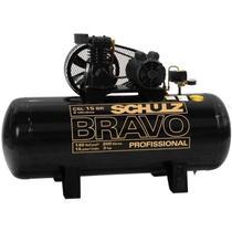 Compressor de Ar 15 Pés 3,0 HP 200 Litros 140Lb BRAVO Mono 110/220V SCHULZ -