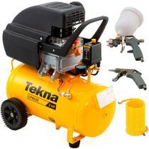 Compressor de Ar 2,0 HP 24 Litros 8,5 PÉS com Kit CP8525-2CK3B TEKNA -
