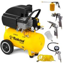 Compressor de Ar 2,0 HP 24 Litros 8,5 PÉS CP8525 TEKNA com Kit Multiuso -