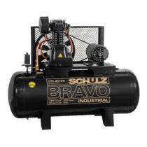 Compressor de ar 20 pés 200L 5 hp 175 lbs trifásico CSL20BR/200 - Bravo - Schulz -