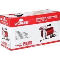 Compressor de Ar 250W com Pressão Máxima de 3,6BAR e Pistola de Pintura 371629 Worker Bivolt -