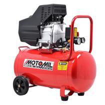 Compressor De Ar 2,5hp MAM-10 / 50 Litros 120lbs Bivolt Monofásico - Motomil -