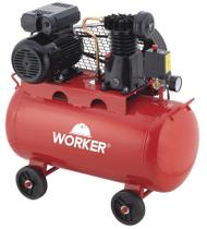 Compressor de Ar 2HP 100 Litros 8 Bar 127V Worker