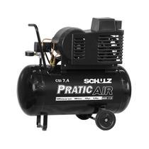 Compressor de Ar 7.4 Pés 125 Psi 50 Litros Monofásico 110/220v com Rodas CSI7.4/50 - Schulz