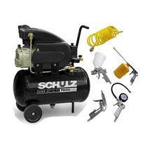 Compressor De Ar 8,5 Pés Pratic Air Csi 8,5/25l Schulz + Kit Pintura 5 Peças -