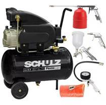Compressor de ar 8,5 pés pratic csi 8,5/25l schulz + kit - pinador 110v/220v -