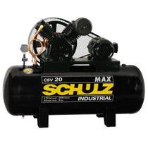 Compressor de ar alta pressão 20 pés 200 litros monofásico - CSV20/200 MAX (220V) - Schulz