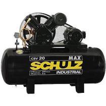 Compressor de ar alta pressão 20 pés 200 litros trifásico - MAX CSV 20/200 - Schulz -