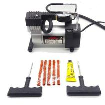 Compressor De Ar Automotivo Portatil 9690 + Kit Reparo Pneu - Idea